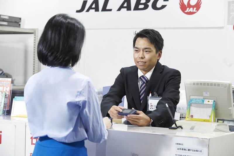 羽田空港で当日貸出可能な「海外レンタルWiFi」のカウンター